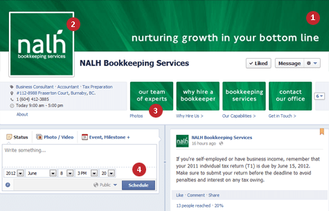 Facebook Timeline Business Page Sample - Custom Facebook Page Design Services Vancouver, BC