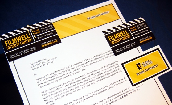 Filmwell Security - Logo Design, Brand Identity, Press Kit, Website Design - Vancouver, BC