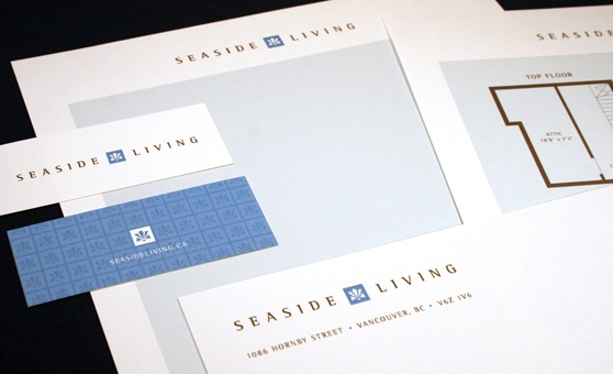 Seaside Living - Real Estate Project Marketing Identity, Logo Design, Marketing Collateral, Environmental Design, Advertisement Design - Vancouver, BC