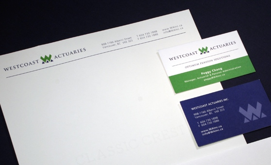 Westcoast Actuaries - Logo Re-Design, Branding, Business Card Design - Vancouver, BC