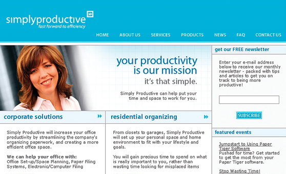 Web Site Design & Development Portfolio - Simply Productive - Vancouver, BC