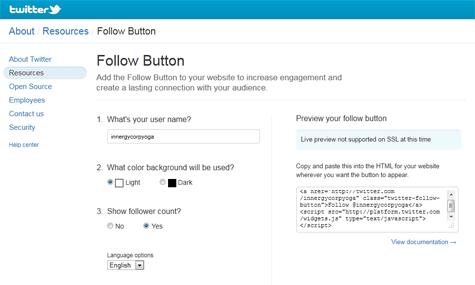 Follow on Twitter Button
